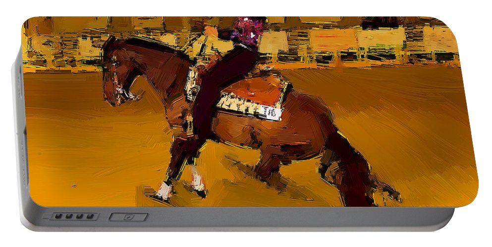 Horse Portable Battery Charger featuring the photograph Lady Slidin by Alice Gipson