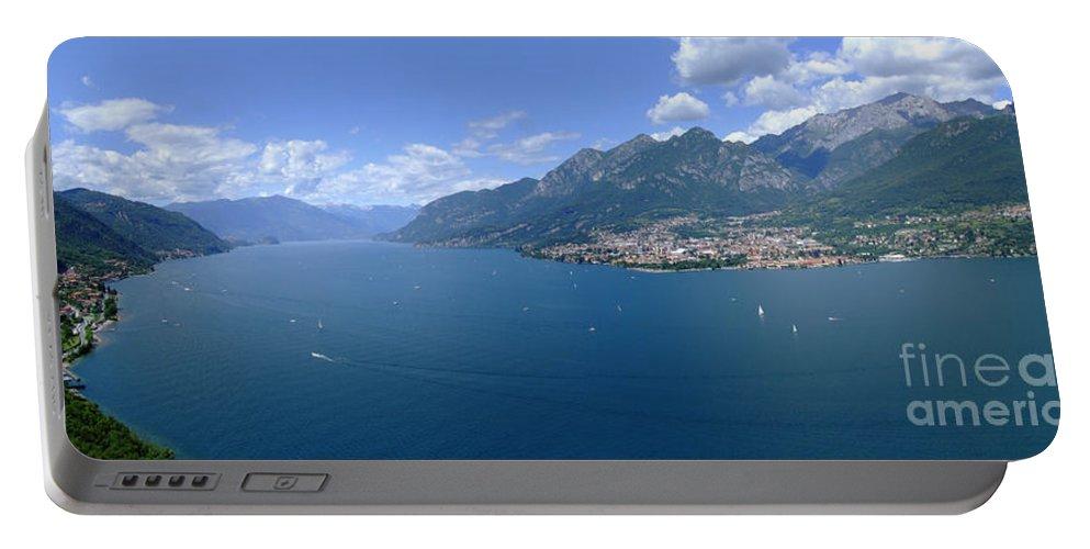 Lago Di Como Portable Battery Charger featuring the photograph Lago Di Como by Riccardo Mottola
