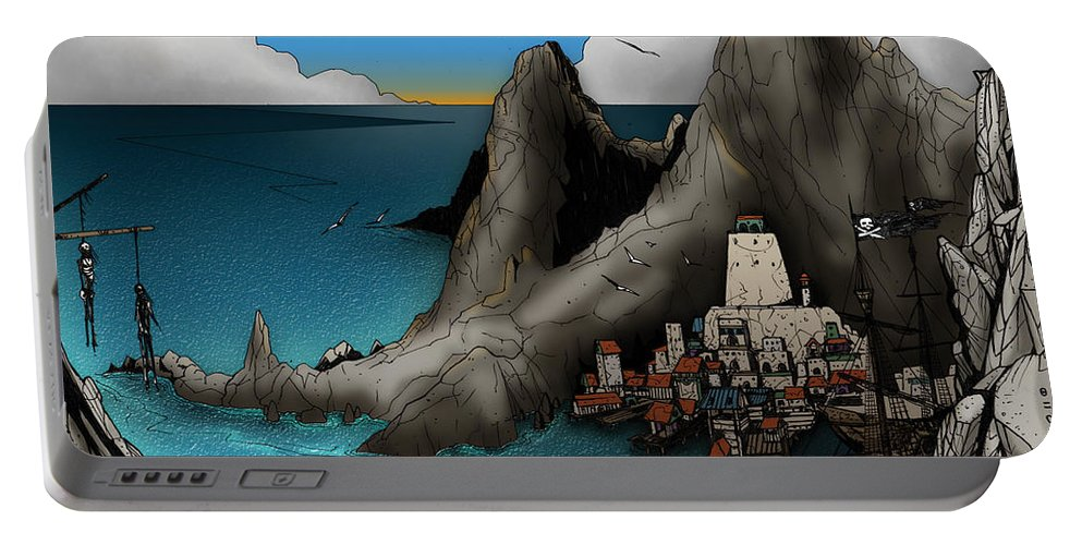 Usherwood Portable Battery Charger featuring the digital art Lagott Island by James Kramer