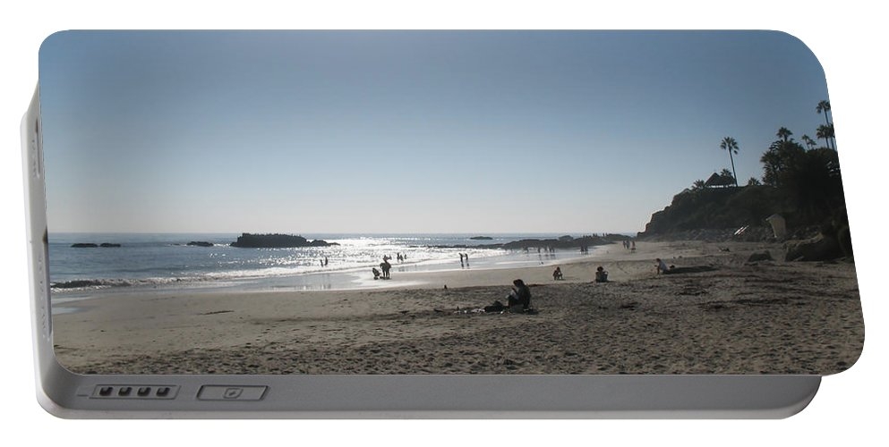 Sun Portable Battery Charger featuring the photograph Laguna Beach Afternoon by Connie Fox