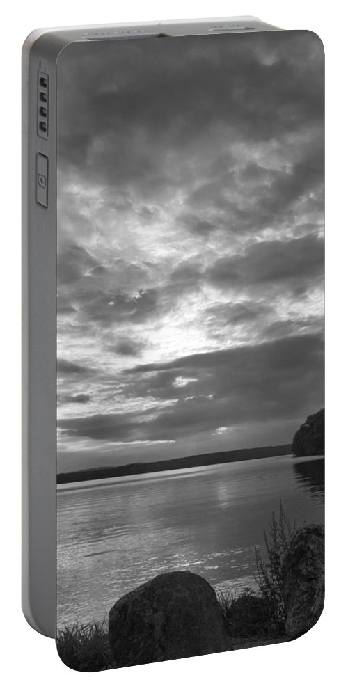Body Of Water Portable Battery Charger featuring the photograph Lake Auburn 7p00297 by Guy Whiteley