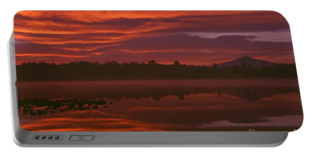 Landscape Portable Battery Charger featuring the photograph Lake Cassidy Draatic Sunrise by Jim Corwin