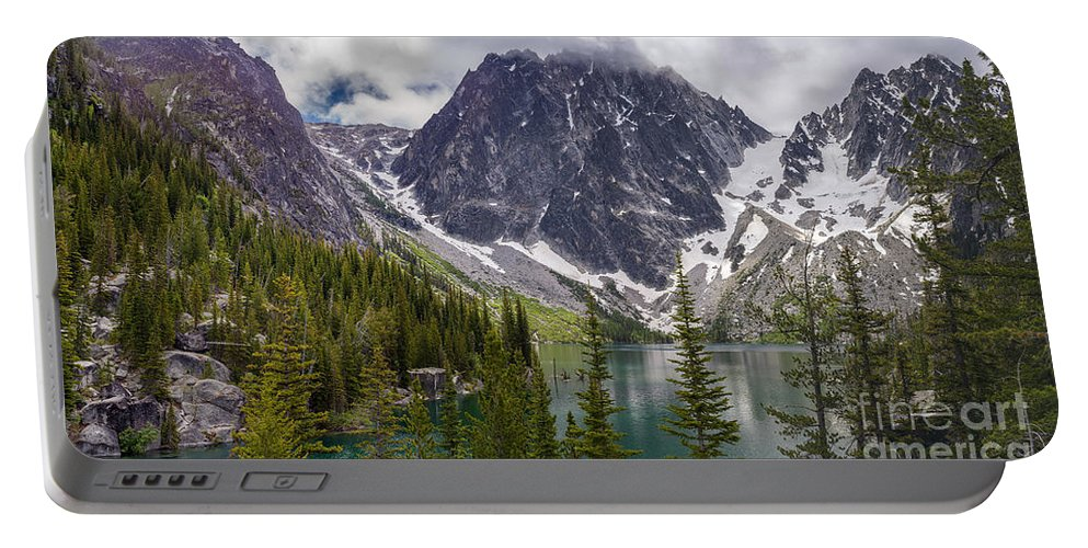 Colchuck Portable Battery Charger featuring the photograph Lake Colchuck Gateway To The Enchantments by Mike Reid