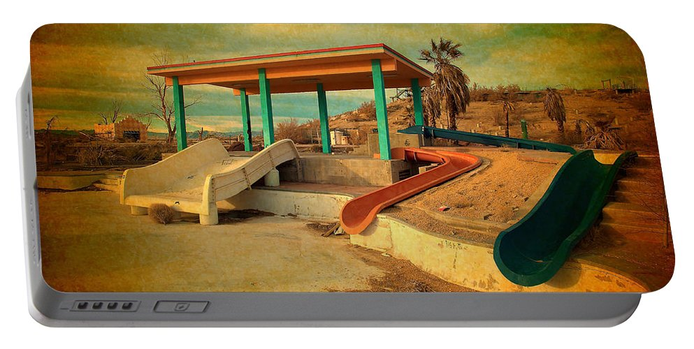 Lake Delores Water Park Portable Battery Charger featuring the photograph Lake Delores Water Park 2 by Richard J Cassato