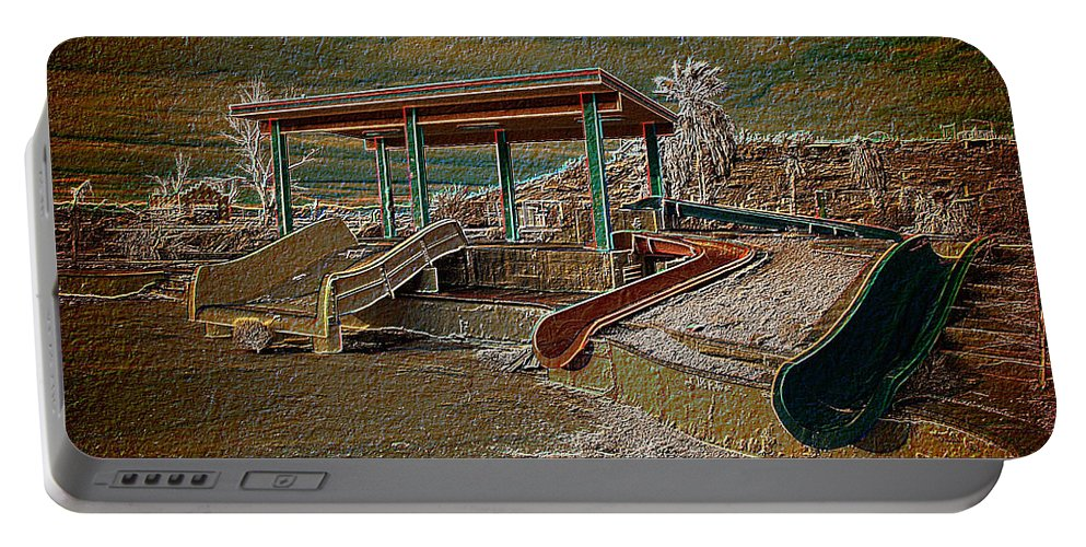 Lake Delores Water Park Portable Battery Charger featuring the photograph Lake Delores Water Park by Richard J Cassato