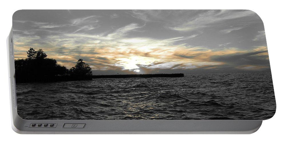 Lake Erie Portable Battery Charger featuring the photograph Lake Erie Lights by Michael Krek