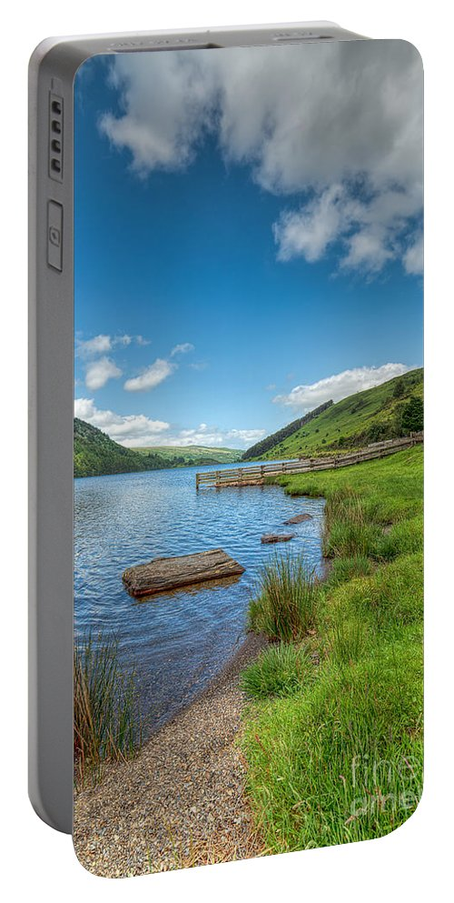 Beach Portable Battery Charger featuring the photograph Lake In Wales by Adrian Evans