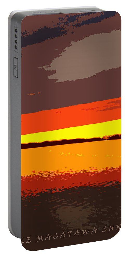 Sunset Portable Battery Charger featuring the photograph Lake Macatawa Sunset by Michelle Calkins