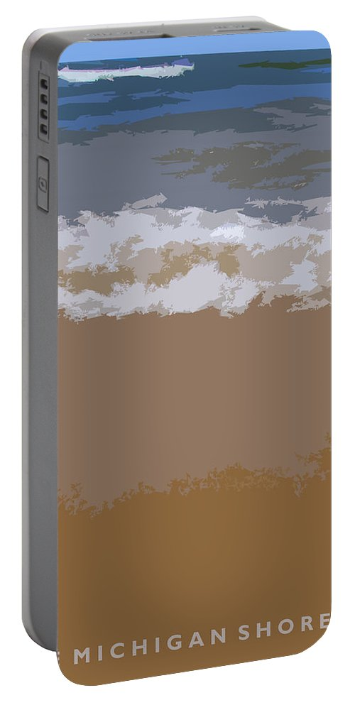 Beach Portable Battery Charger featuring the photograph Lake Michigan Shoreline by Michelle Calkins