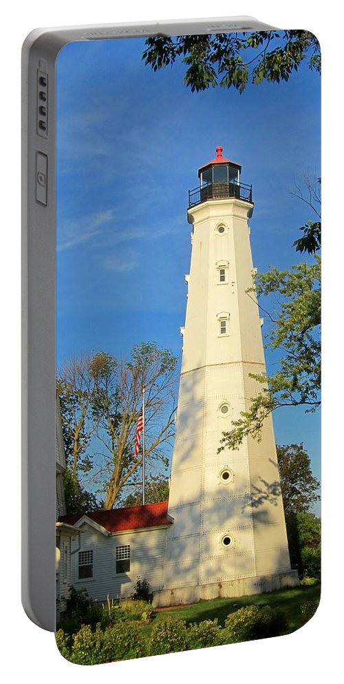 Lake Park Portable Battery Charger featuring the photograph Lake Park Light House 2 by Susan McMenamin