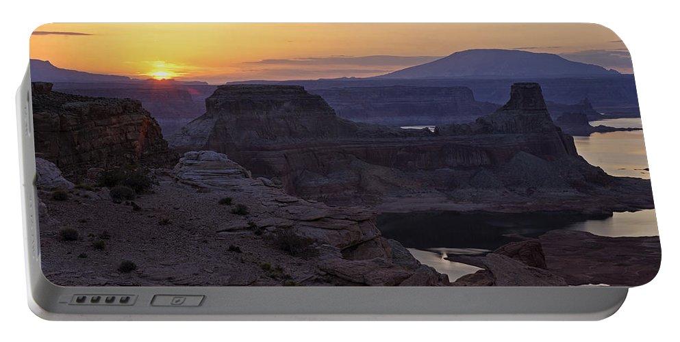 Sunrise Portable Battery Charger featuring the photograph Lake Powell Sunrise by Saija Lehtonen