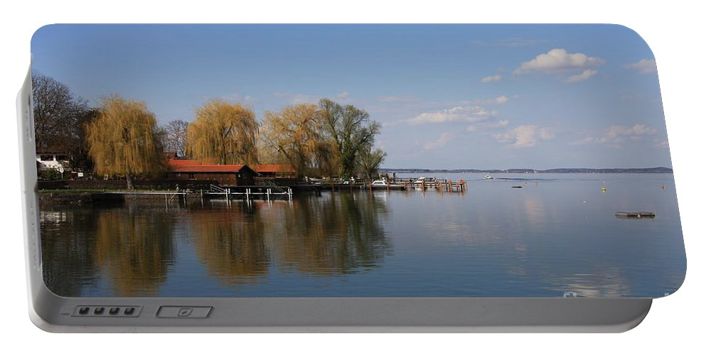 Lake Portable Battery Charger featuring the photograph Lake Reflection by Christiane Schulze Art And Photography