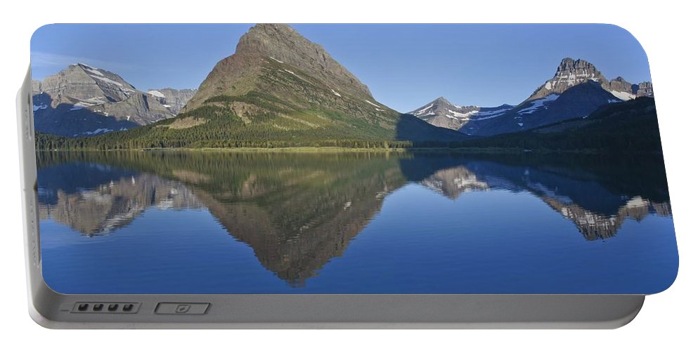 Road Trip Portable Battery Charger featuring the photograph Lake Reflections by Brian Kamprath