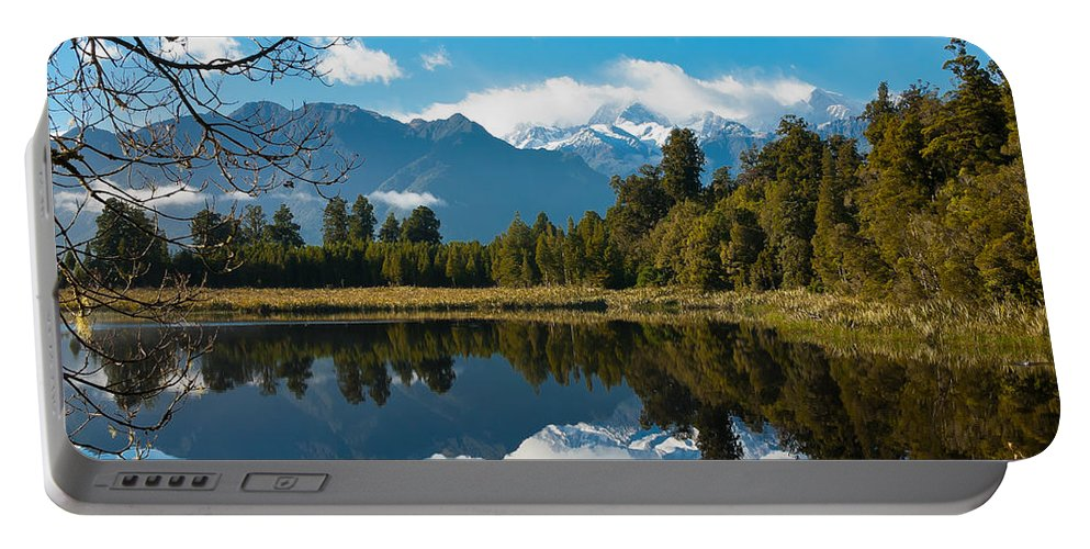 Lake Portable Battery Charger featuring the photograph Lake Reflections by Jenny Setchell