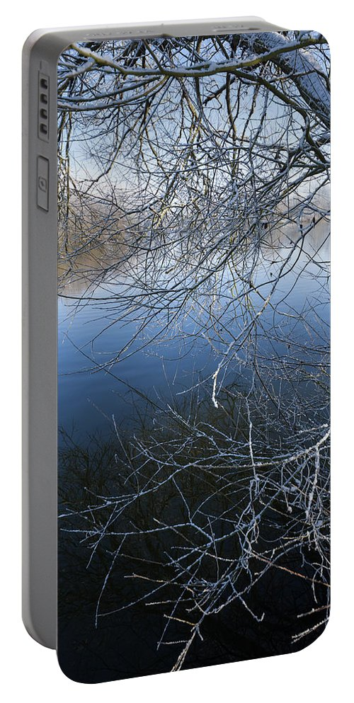 Blue Portable Battery Charger featuring the photograph Lake Reflections by Svetlana Sewell