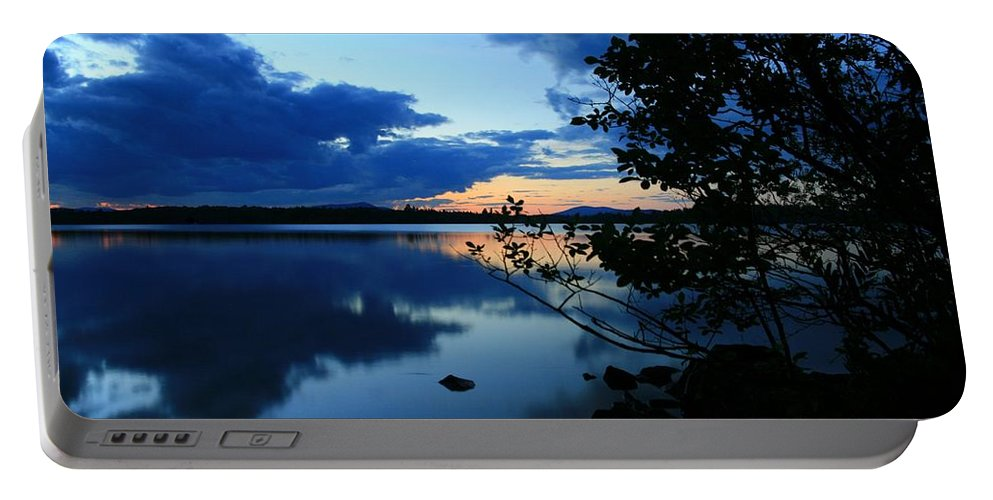 Lake Sunset Portable Battery Charger featuring the photograph Lake Umbagog Sunset by Neal Eslinger