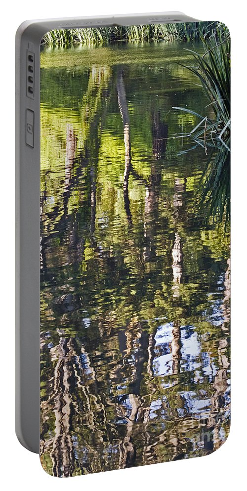 Kate Brown Portable Battery Charger featuring the photograph Lakeshore Reflections by Kate Brown