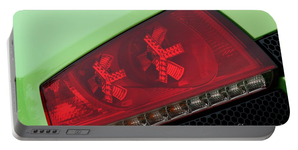 Lamborghini Portable Battery Charger featuring the photograph Lambotail8668 by Gary Gingrich Galleries
