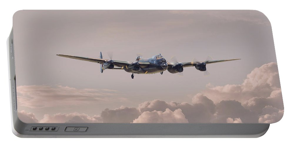 Aircraft Portable Battery Charger featuring the photograph Lancaster - Summer Dawn by Pat Speirs
