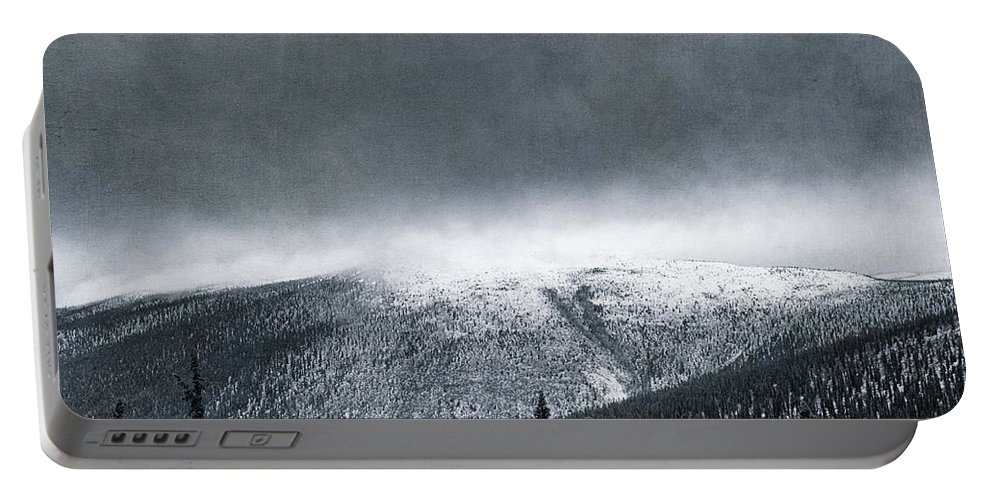 Taylor Highway Portable Battery Charger featuring the photograph Land Shapes 3 by Priska Wettstein