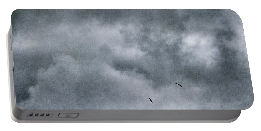 Taylor Highway Portable Battery Charger featuring the photograph Land Shapes 5 by Priska Wettstein