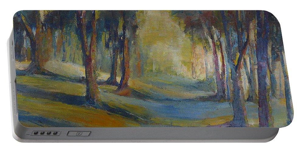 Landscape Portable Battery Charger featuring the painting Lands End 04 by Pusita Gibbs