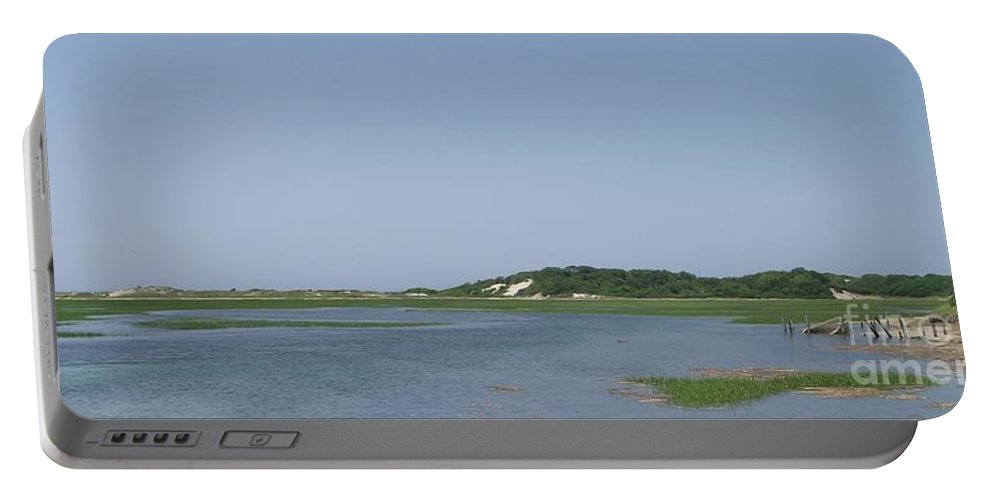 Provincetown Portable Battery Charger featuring the photograph Land's End Dunes by Michelle Welles