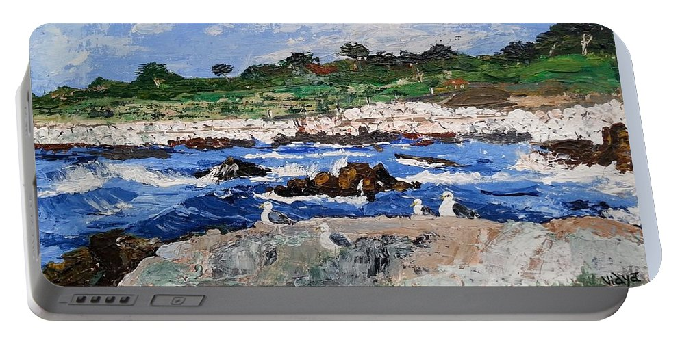 Palette Portable Battery Charger featuring the painting Landscape by Vidya Vivek