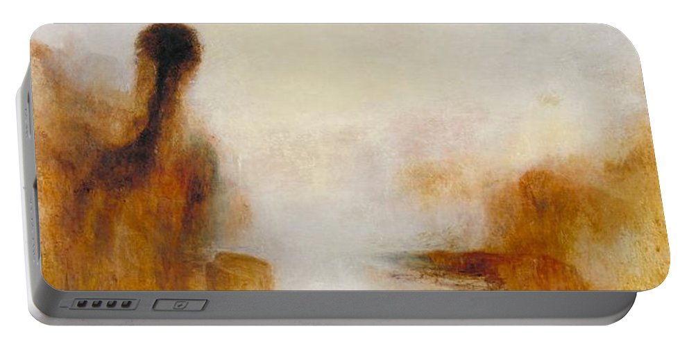 1840 Portable Battery Charger featuring the painting Landscape With Water by JMW Turner