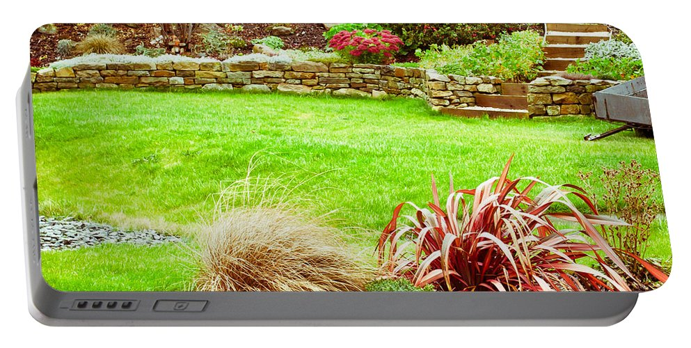 Architecture Portable Battery Charger featuring the photograph Landscaped Garden by Tom Gowanlock