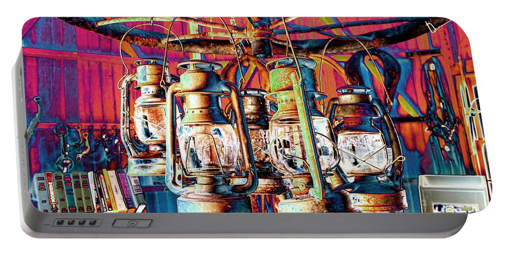 Chandelier Portable Battery Charger featuring the photograph Lantern Chandelier 02 by Sylvia Thornton