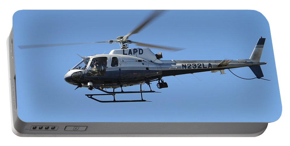 Lapd Portable Battery Charger featuring the photograph Lapd In Flight by Shoal Hollingsworth