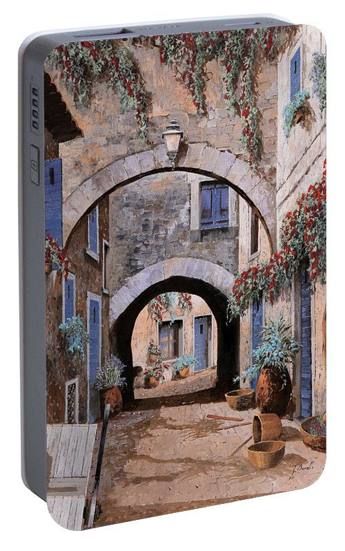 Devil Portable Battery Charger featuring the painting L'arco Del Diavolo by Guido Borelli