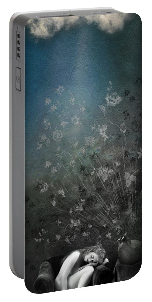 Aimee Stewart Portable Battery Charger featuring the digital art Lareverie by Aimee Stewart