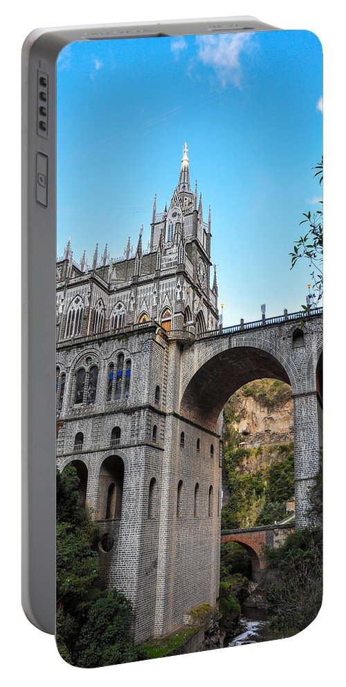Las Portable Battery Charger featuring the photograph Las Lajas Sanctuary by Jess Kraft