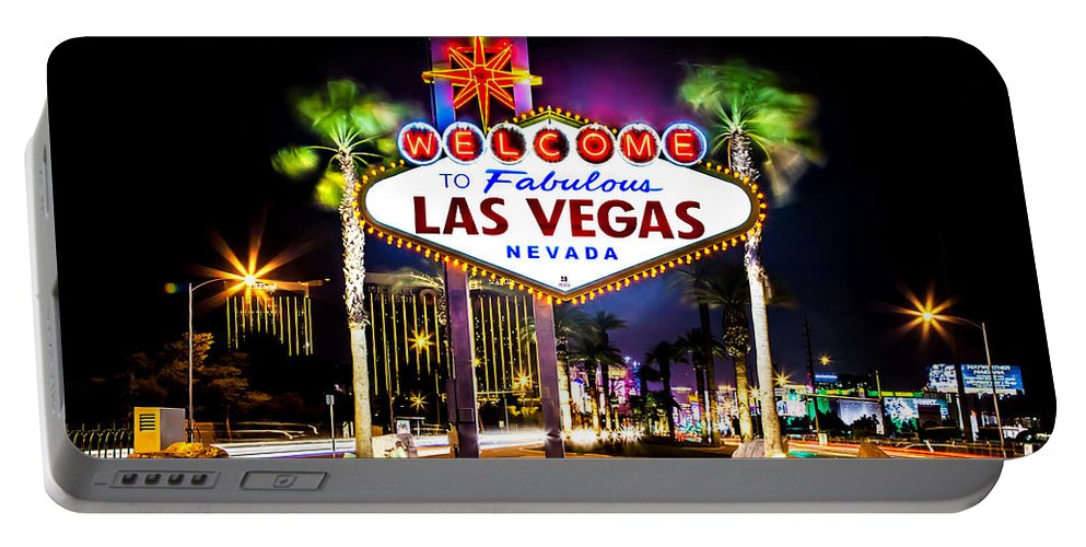 Las Vegas Portable Battery Charger featuring the photograph Las Vegas Sign by Az Jackson