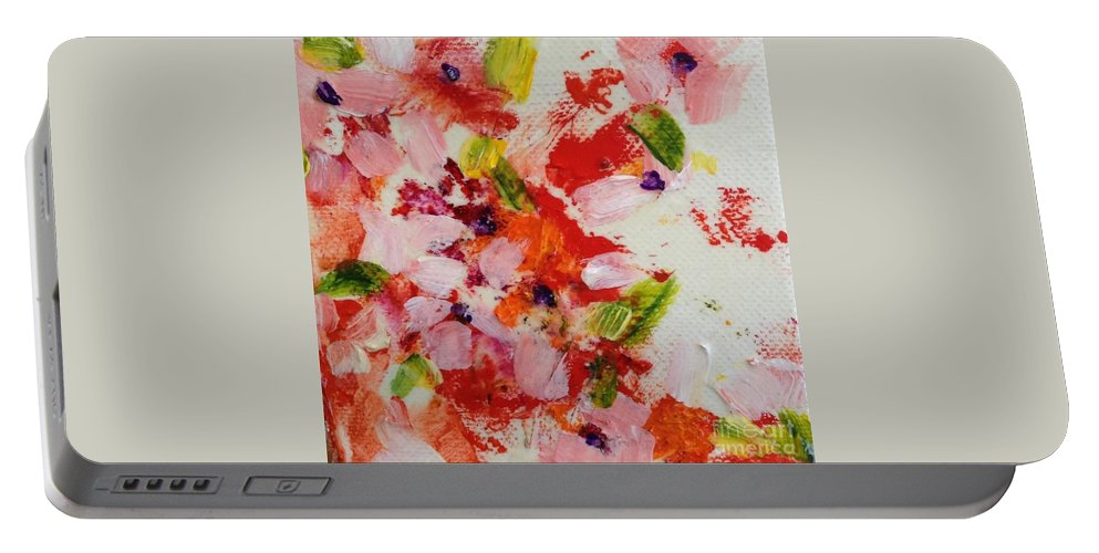Flower Portable Battery Charger featuring the painting Last Days Of Summer by Sherry Harradence