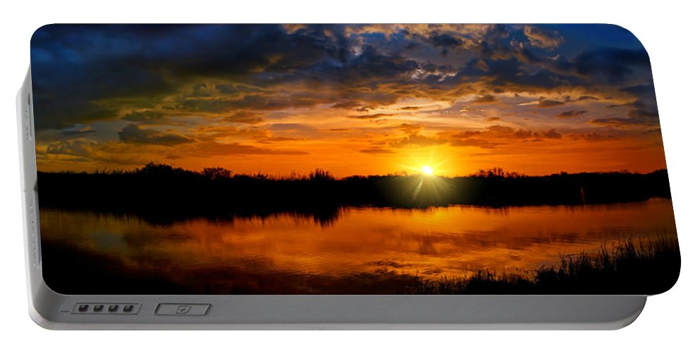 Sunset Portable Battery Charger featuring the photograph Last Light by Mark Andrew Thomas