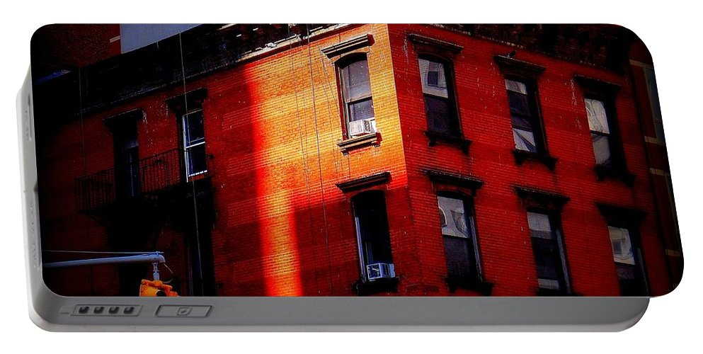Architecture Portable Battery Charger featuring the photograph Last Rays Of The Sun - Old Buildings Of New York by Miriam Danar