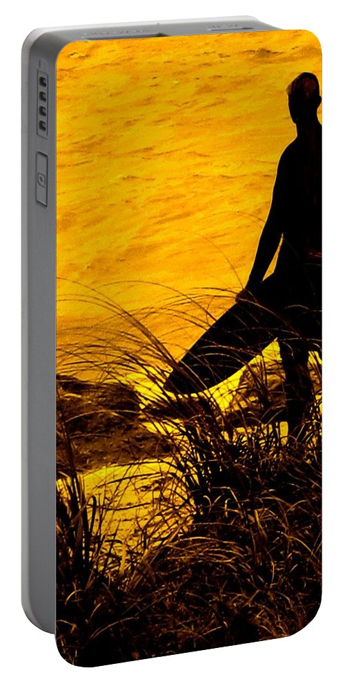 Florida Portable Battery Charger featuring the photograph Last Surfer Standing by Ian MacDonald