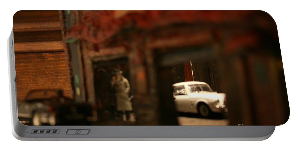 Classic Cars Portable Battery Charger featuring the photograph Late Evening Pick-up by William Bezik
