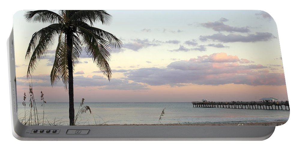 Lauderdale-by-the-sea Portable Battery Charger featuring the photograph Lauderdale By The Sea Florida Sunset by Lee Serenethos