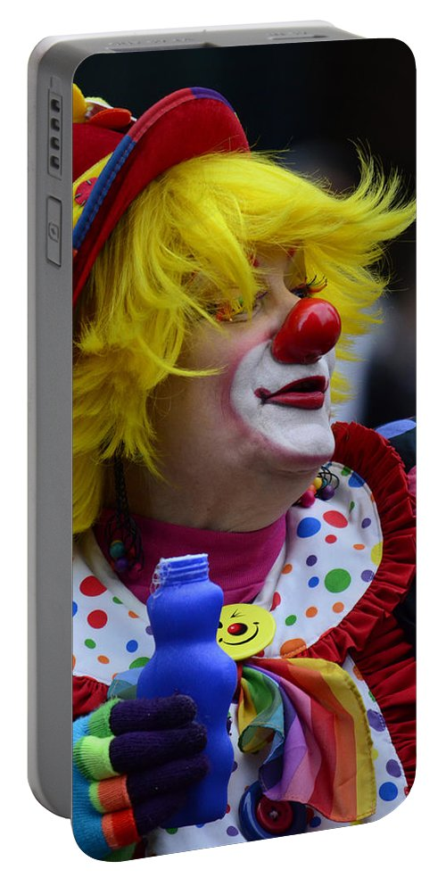 Street Photography Portable Battery Charger featuring the photograph Laughter Bubbles by The Artist Project