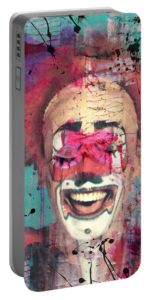 Clown Portable Battery Charger featuring the photograph Laughter I Purge by The Artist Project