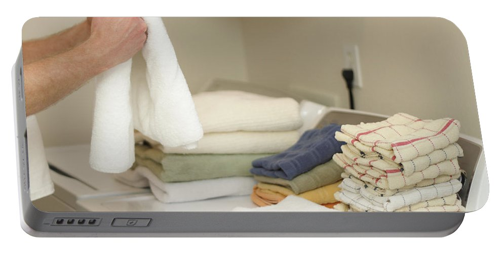 Laundry Portable Battery Charger featuring the photograph Laundry Day by Lee Serenethos