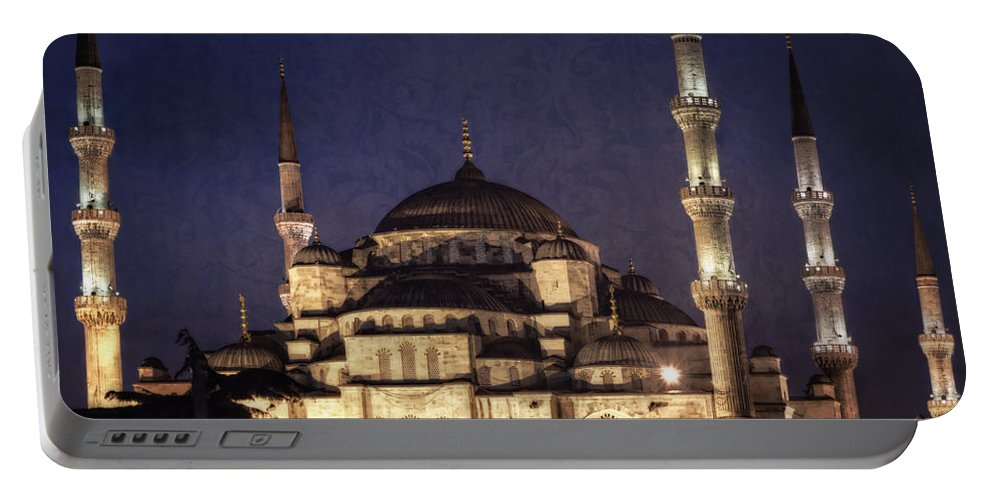 Istanbul Portable Battery Charger featuring the photograph Lavender Brocade by Joan Carroll