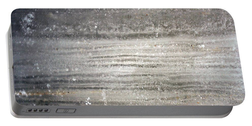 Ice Portable Battery Charger featuring the photograph Layers by Allan Lovell