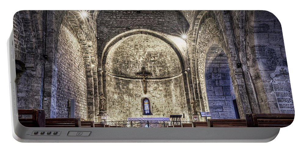 Le Castellet Portable Battery Charger featuring the photograph Le Castellet Medieval Church by Marc Garrido