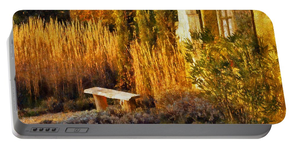France Portable Battery Charger featuring the digital art Lazy Afternoon Sun by Bel Menpes