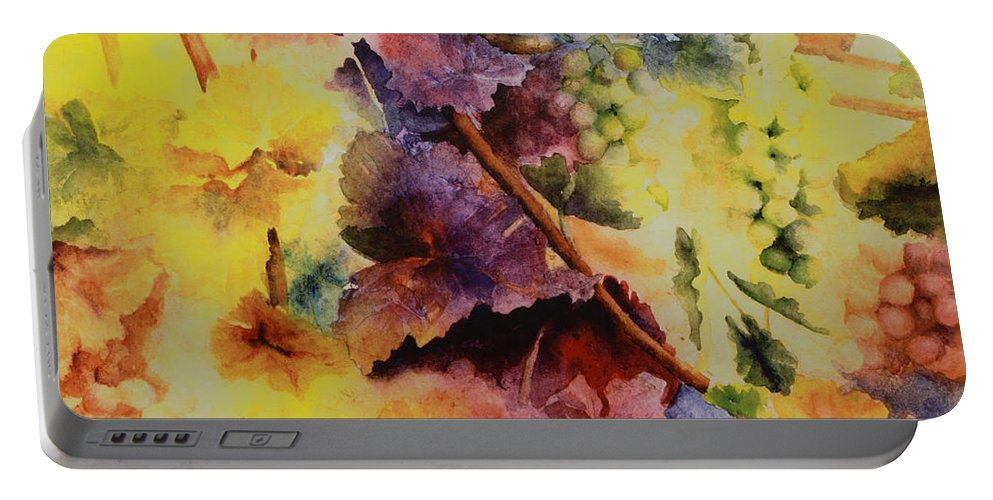 Still Life Portable Battery Charger featuring the painting Le Magie D' Automne by Maria Hunt